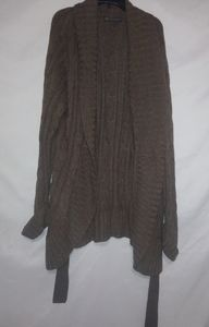 Outback Red Caramel Belted Cardigan XL Plus